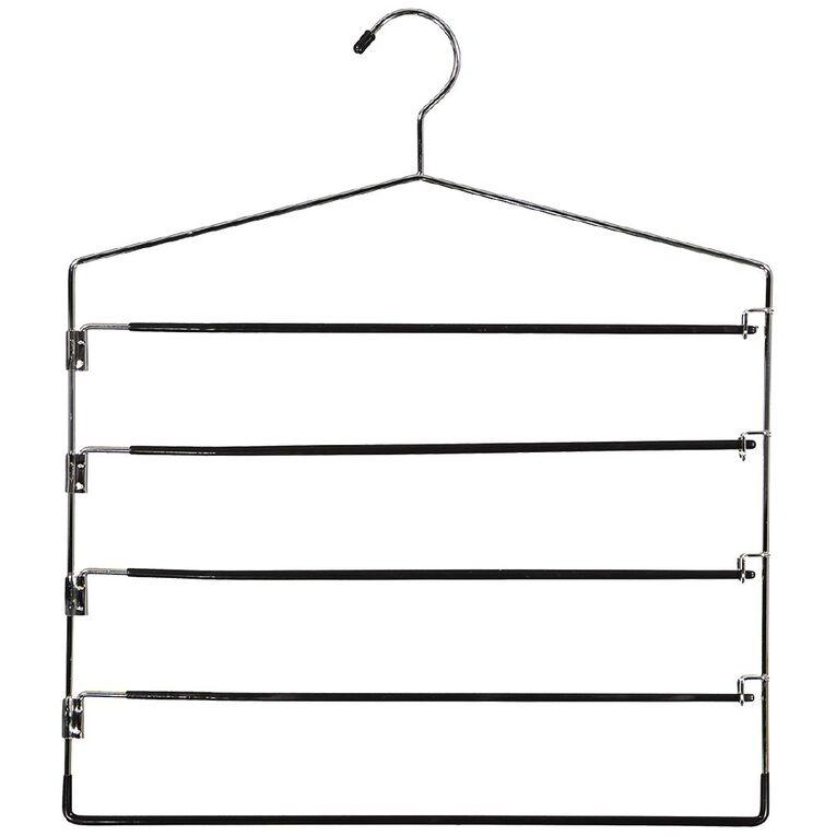 Living & Co Pant Hanger Silver 4 Tier, , hi-res