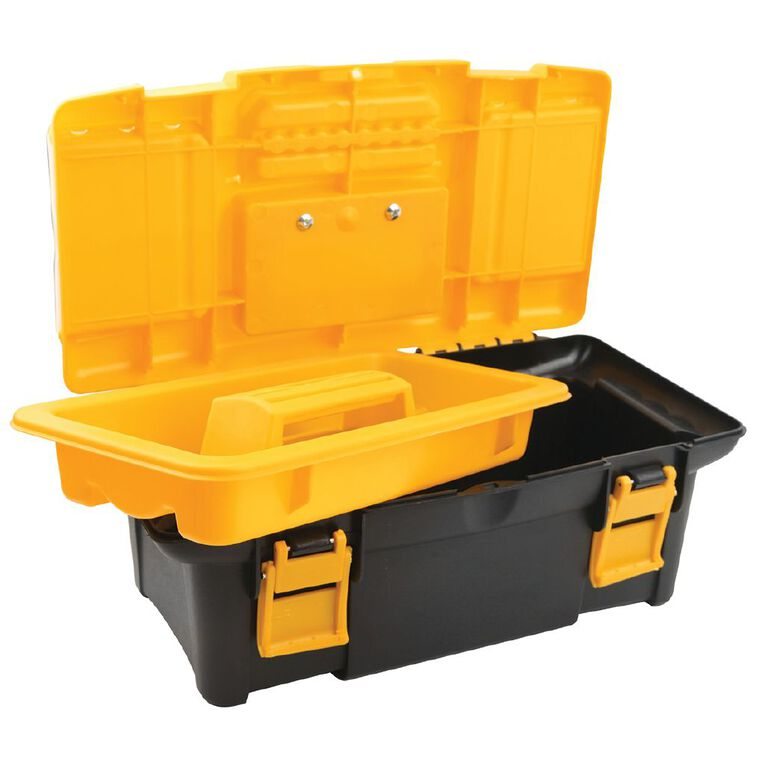 Tolsen Plastic Toolbox 34cm x 18cm x 13cm, , hi-res