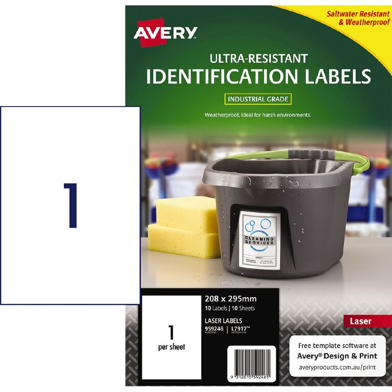 Avery Ultra-Resistant Outdoor Labels White 10 Labels, , hi-res