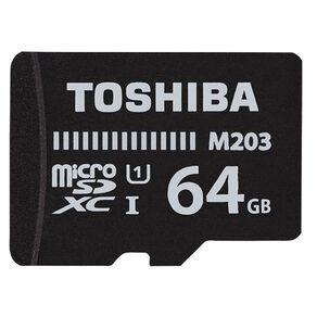 Toshiba M203 MicroSD w/Adapter - 64GB