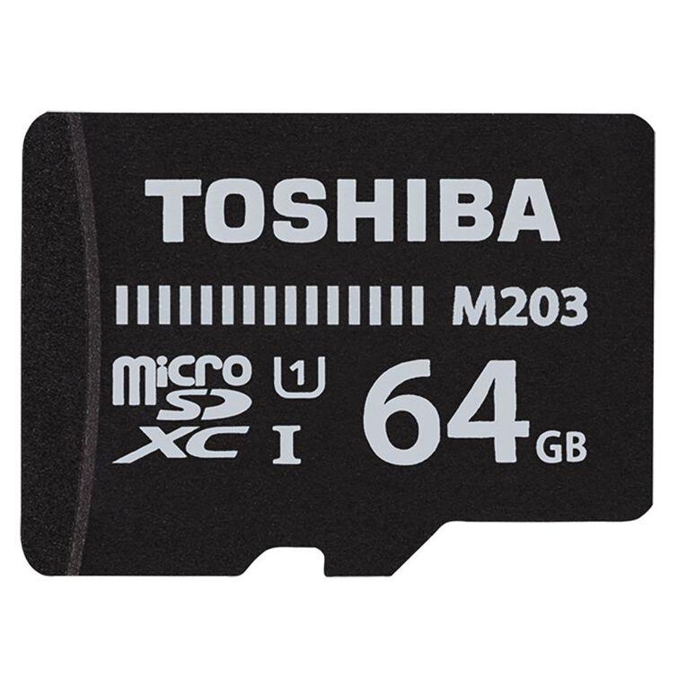 Toshiba M203 MicroSD w/Adapter - 64GB, , hi-res