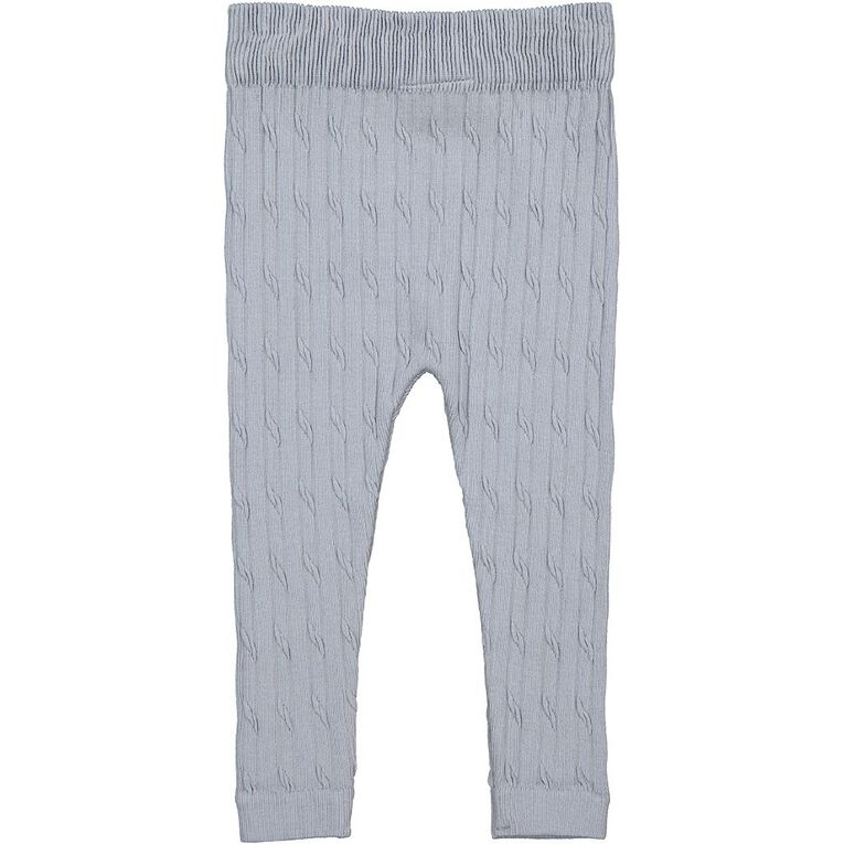 Young Original Toddler Cable Knit Leggings, Blue Light, hi-res