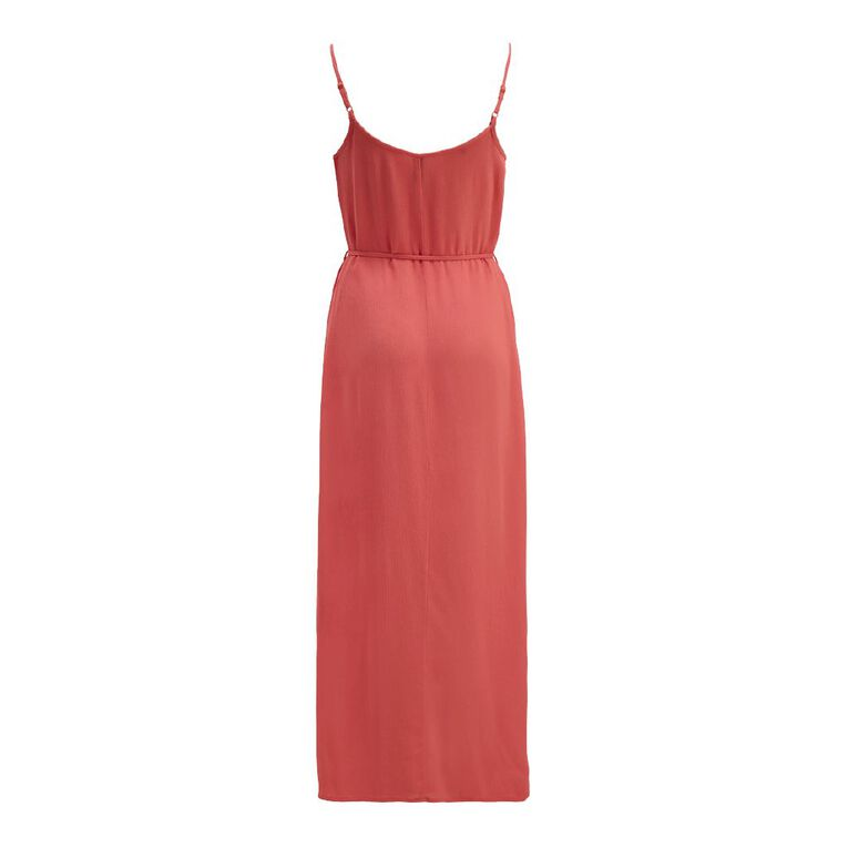 H&H Women's Strappy Maxi Dress, Coral, hi-res image number null