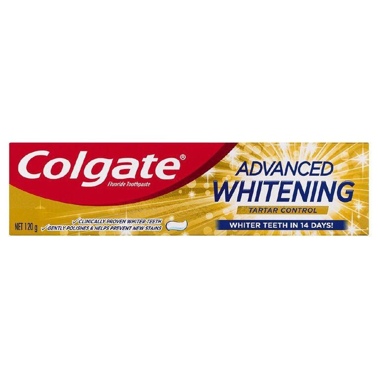 Colgate Advanced Whitening and Tartar 120g, , hi-res