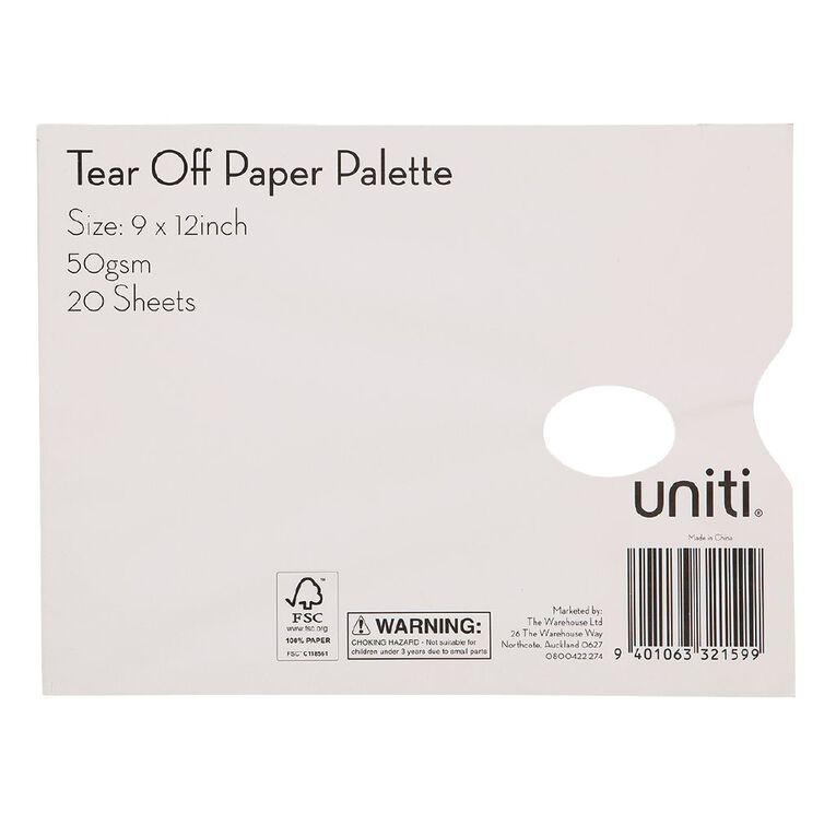 Uniti Tear Off Paper Palette White, , hi-res