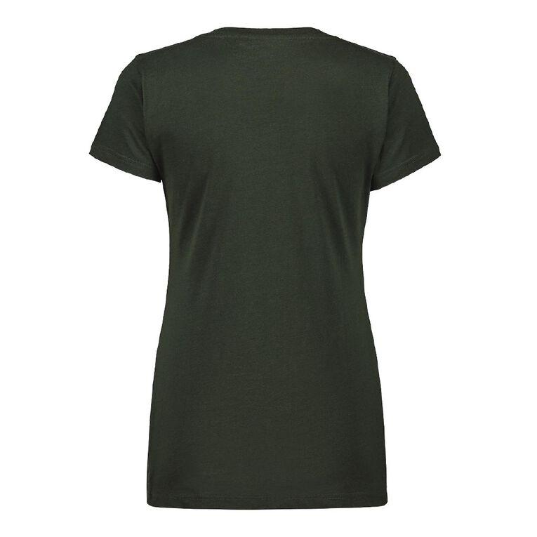 H&H Women's V-Neck Tee, Green Dark, hi-res