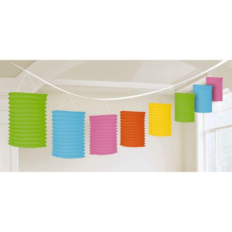 Amscan Paper Lantern Garland Multi-Coloured, , hi-res