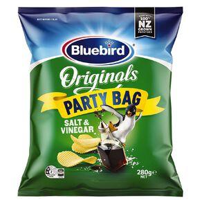 Bluebird Original Salt & Vinegar Party Bag 280g