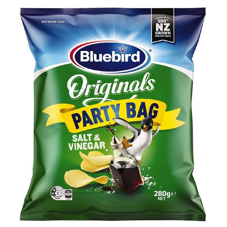 Bluebird Original Salt & Vinegar Party Bag 280g, , hi-res