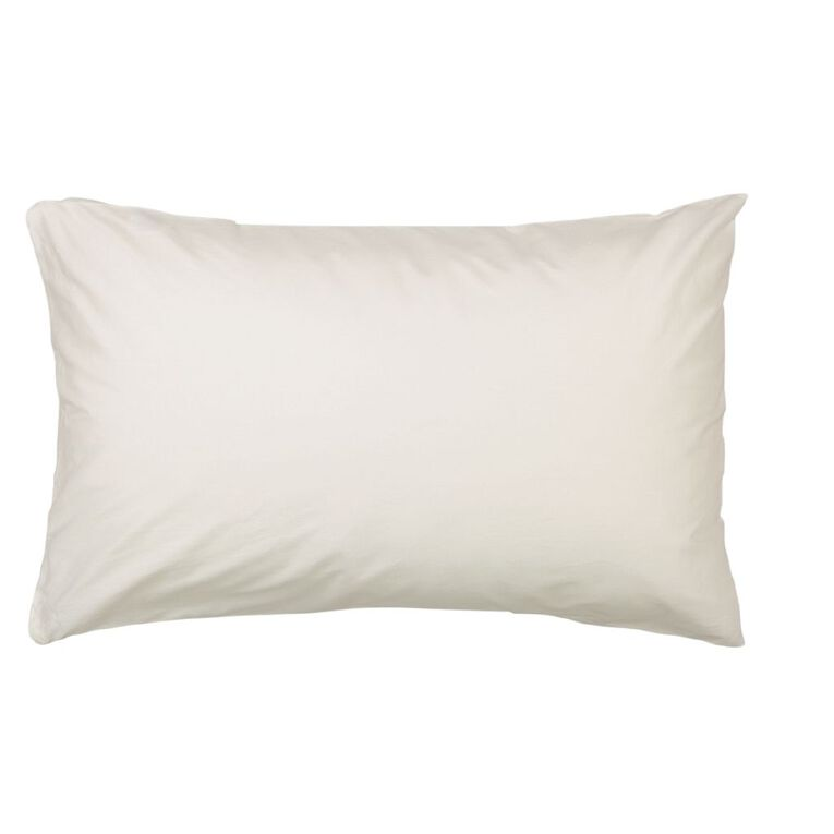 Living & Co Pillow Protector Cotton 2 Pack White Standard, White, hi-res