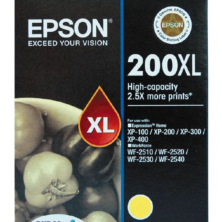 Epson Ink 200XL Yellow (450 Pages), , hi-res