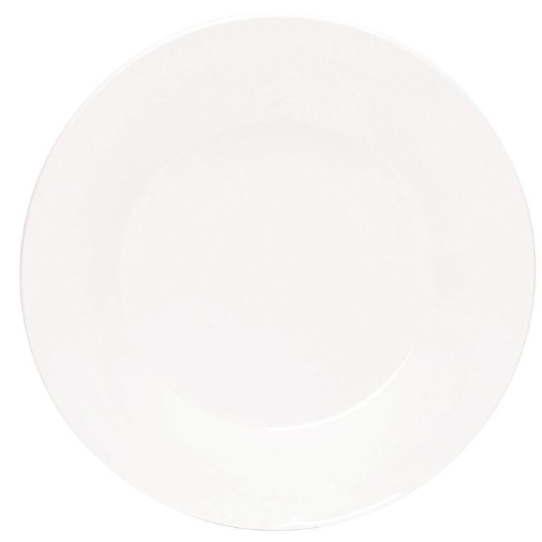Living & Co Essentials Dinner Plate White 24cm, , hi-res