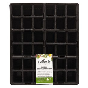 IP Plastics Standard Tray with 6 x 6 Cell Punnets Black