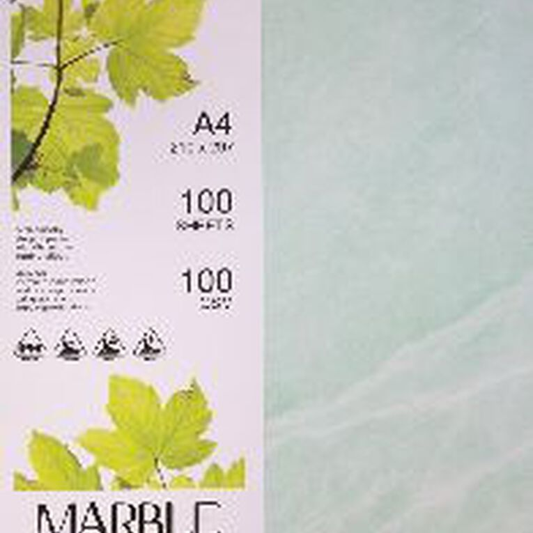 Direct Paper Marble Paper 100gsm 100 Pack Green A4, , hi-res