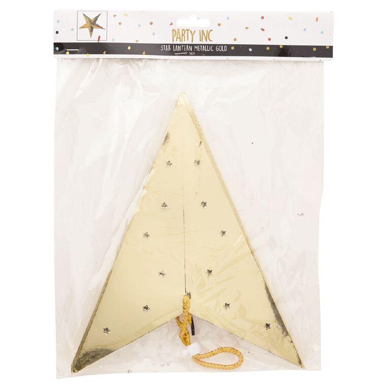 Party Inc Star Lantern Metallic Gold 50cm, , hi-res