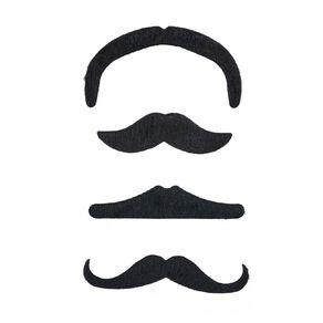 Play Studio Moustache Kit 4 Piece Black
