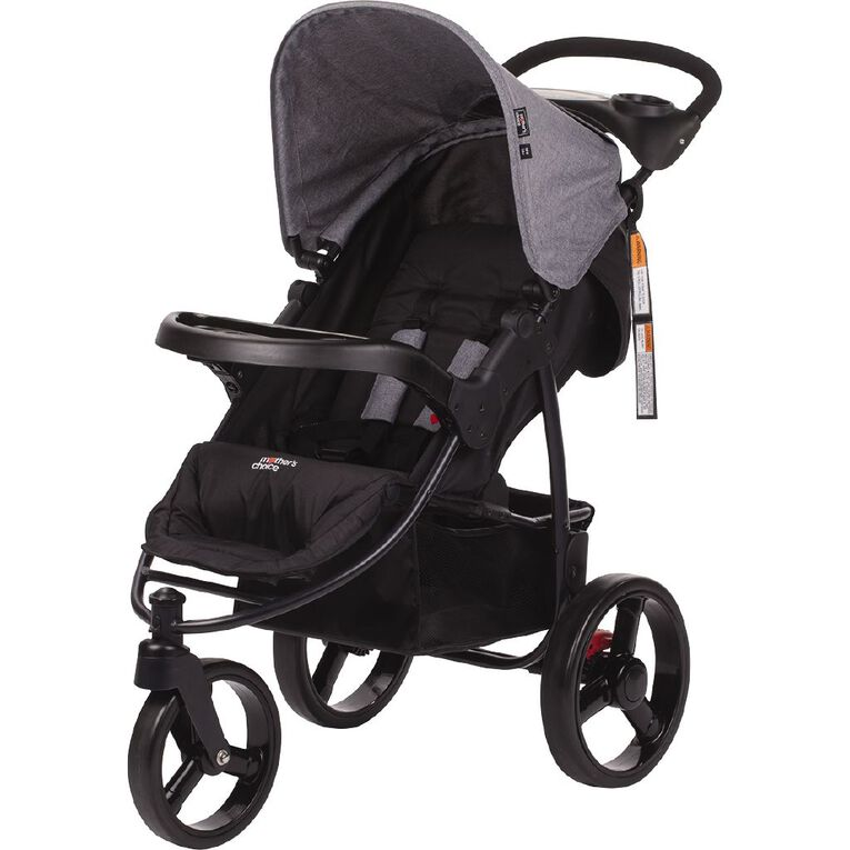 Mother's Choice 3 Wheel Scout Stroller Grey Linen, , hi-res