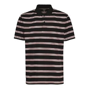 H&H Short Sleeve Striped Polo