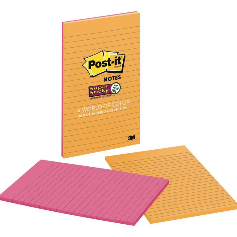 Post-It Super Sticky Notes 123mm x 200mm Rio De Janeiro, , hi-res image number null