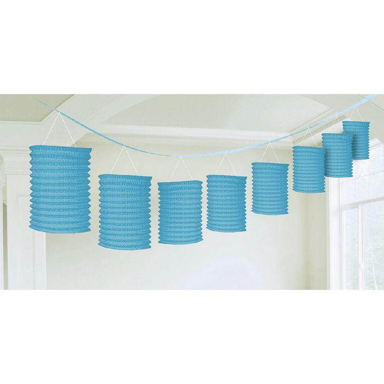 Amscan Paper Lantern Garland Caribbean Blue, , hi-res