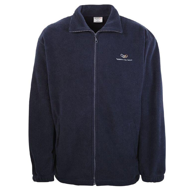 Schooltex Tapawera Area School Polar Fleece Jacket with Embroidery, Navy, hi-res