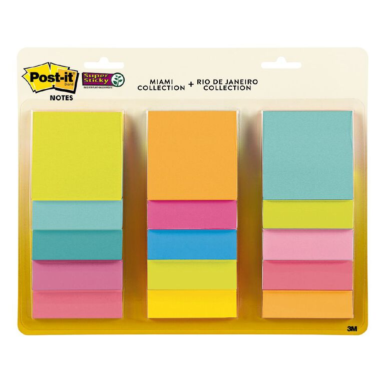 Post-It 654-15SSMULT12 Bright Notes 76X76mm, , hi-res