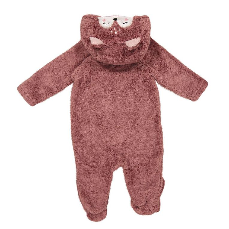 Young Original Baby Coral Fleece Coverall, Pink Dark, hi-res
