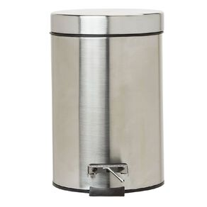 Living & Co Pedal Bin Stainless Steel Silver Silver 3L