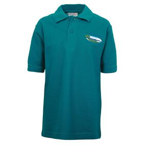 Schooltex Oceanview Heights Short Sleeve Polo with Screenprint
