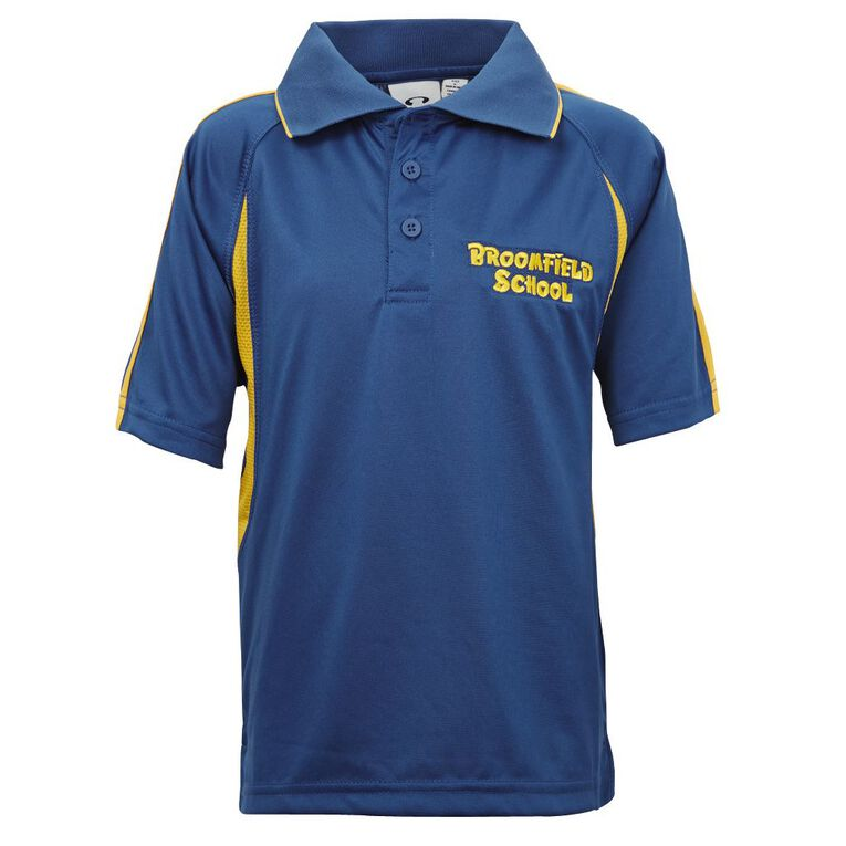 Schooltex Broomfield Sport Top with Embroidery, Royal/Gold, hi-res