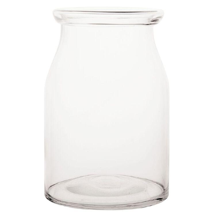 Living & Co Country Lip Vase 19cm x 28cm Clear, , hi-res
