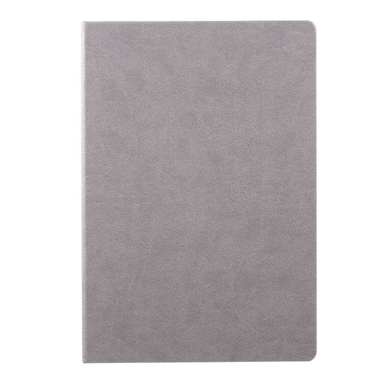 WS Hardcover PU Notebook Grey A4, , hi-res