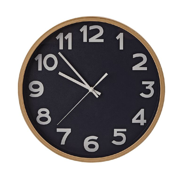 Living & Co Dune Clock Navy 35cm, , hi-res