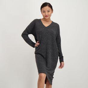H&H Women's Brushed Knit V Neck Dress