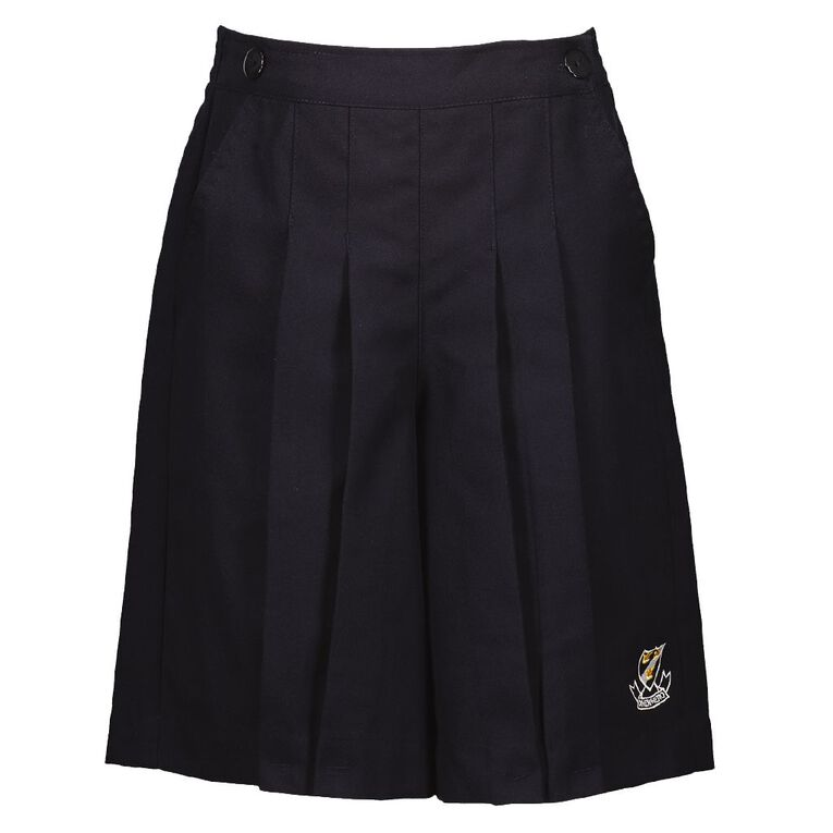 Schooltex Onewhero Area School Culottes with Embroidery, Navy, hi-res