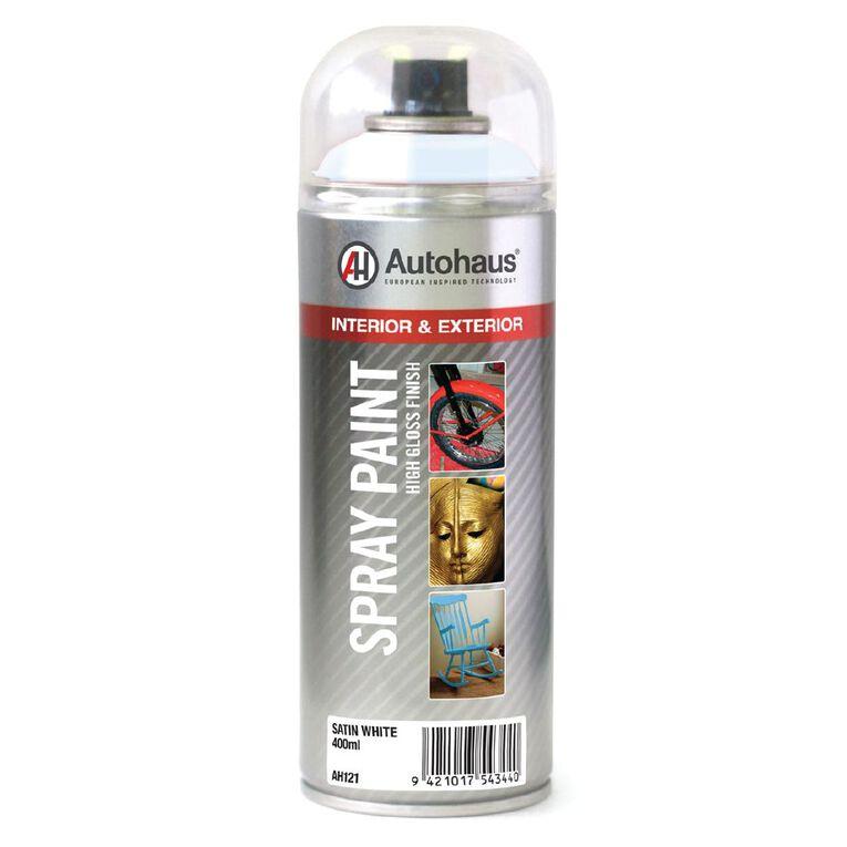 Autohaus Spray Paint Satin White 400ml, , hi-res