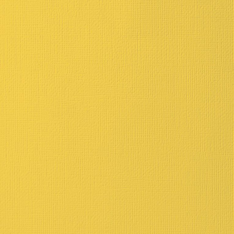 American Crafts Cardstock Textured Sunflower Yellow 12in x 12in, , hi-res