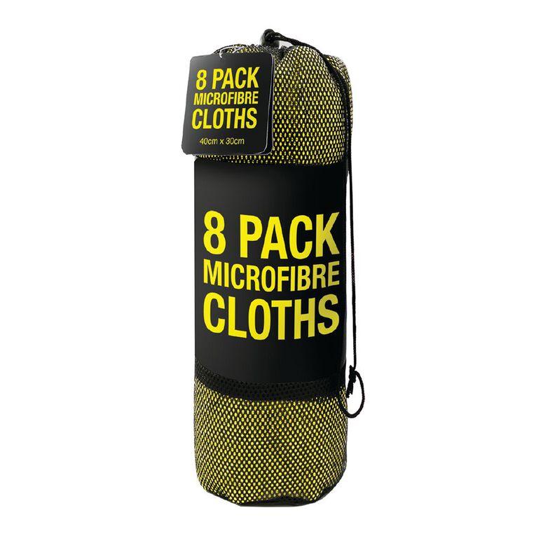 Microfiber Clothes 8 Pack 40cm x 30cm Yellow, , hi-res