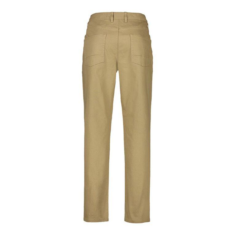 H&H Men's Straight Coloured Pants, Tan, hi-res