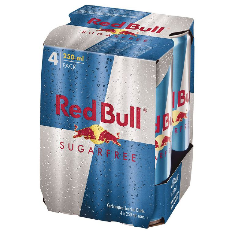 Red Bull Sugarfree Cans 250ml 4 Pack, , hi-res