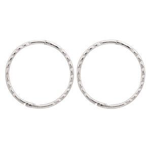 Sterling Silver Diamond Cut Sleeper Earrings 16mm