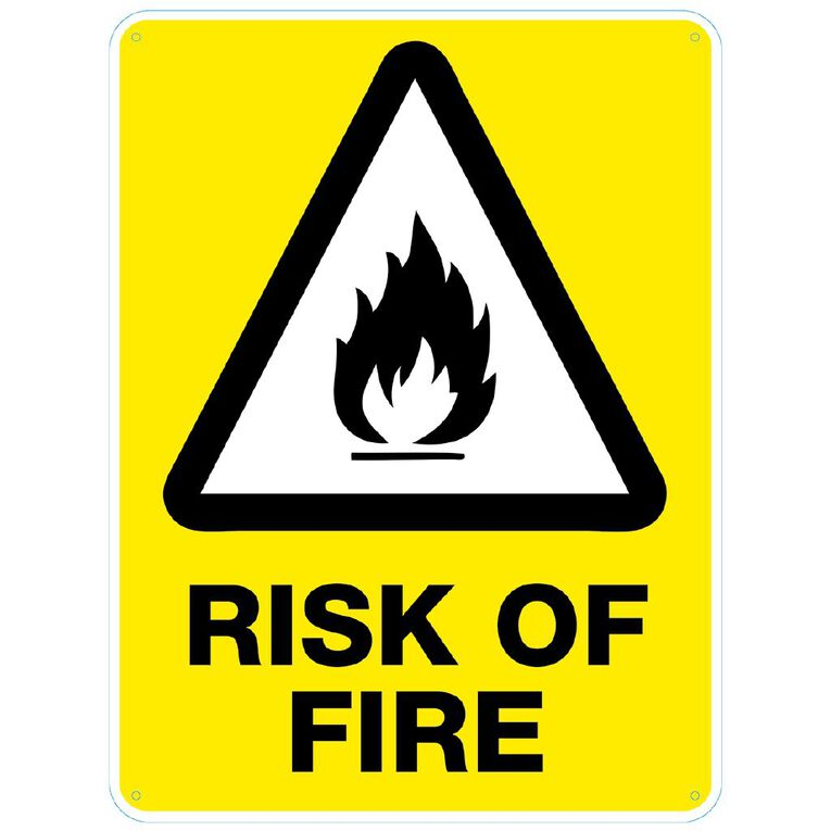 WS Risk of Fire sign Large 600mm x 450mm, , hi-res