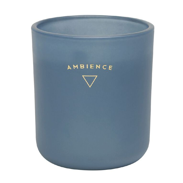 Living & Co Ambience Jar Candle Waiheke Bay Blue 13oz, Blue, hi-res