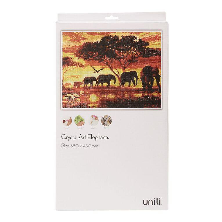 Uniti Crystal Art 35 x 45cm Elephants, , hi-res