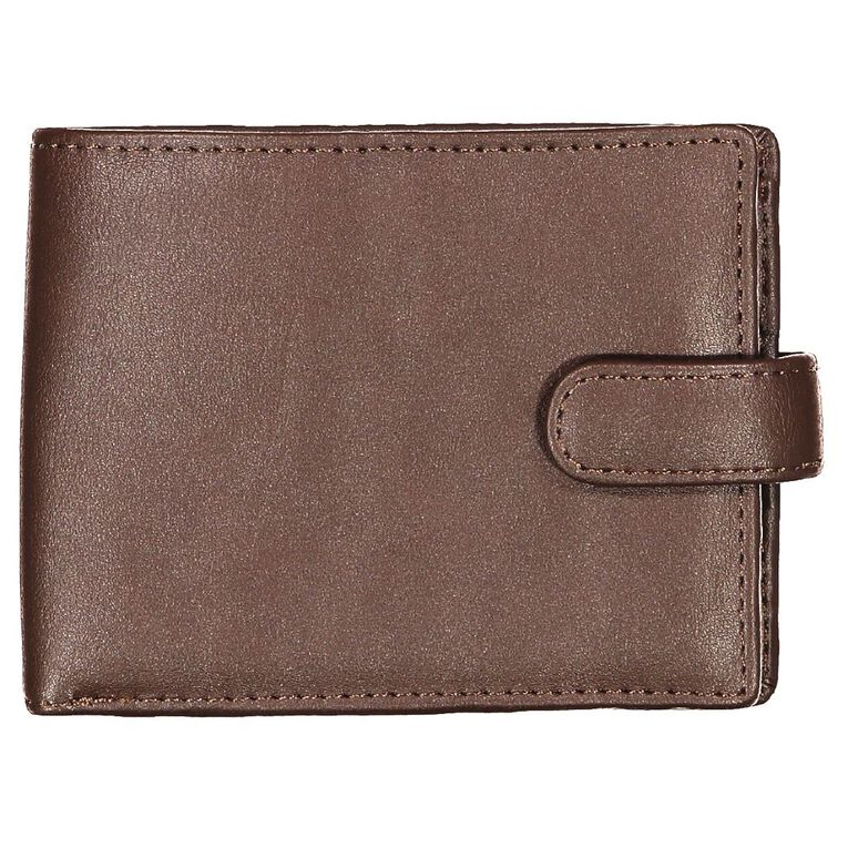 H&H Fold Tab Wallet, Brown, hi-res
