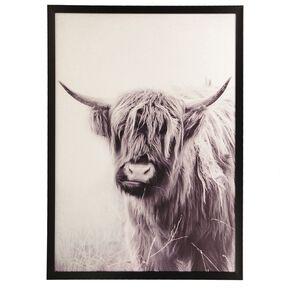 Living & Co Highland Cow Framed Print 50 x 70 x 2.3cm