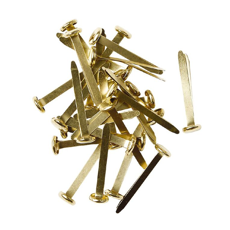 WS Paperbinders 32mm 50 Pack Brass, , hi-res