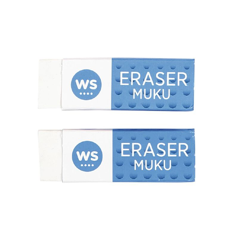 WS Eraser 2 Pack White, , hi-res