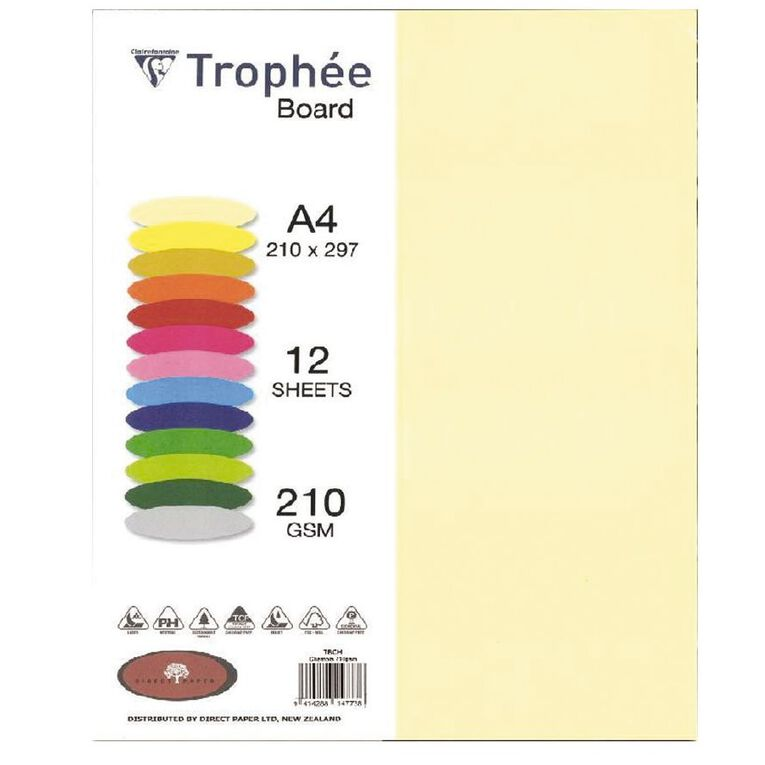Trophee Board 210gsm 12 Pack Chamois A4, , hi-res image number null