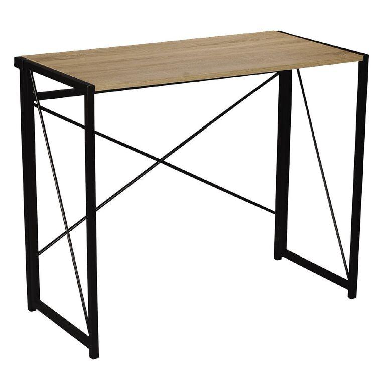Workspace Folding Desk Oak, , hi-res